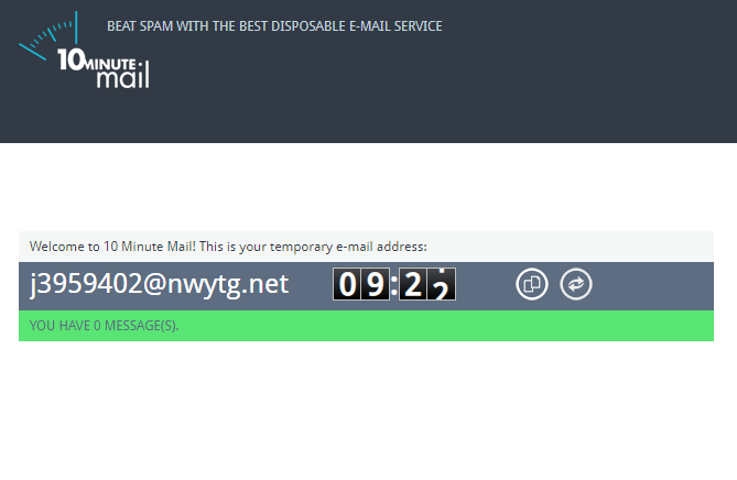 Temporary Fake Email Address