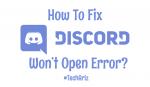 Discord Wont Open