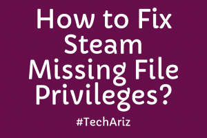 How to Fix Steam Missing File Privileges?