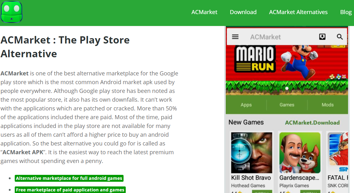 Acmarket Apk The Best Market Place To Download Android Apps