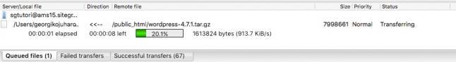 FileZilla File Transferring