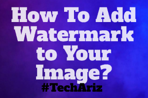 Add Watermark to Your Image