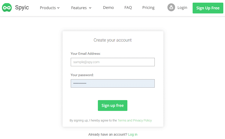 Spyic Signup