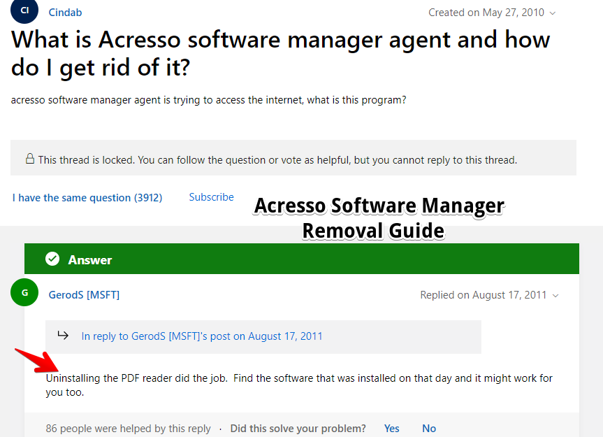 Acresso Software Manager Removal Guide
