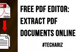 Free PDF Editor Extract PDF Documents Online