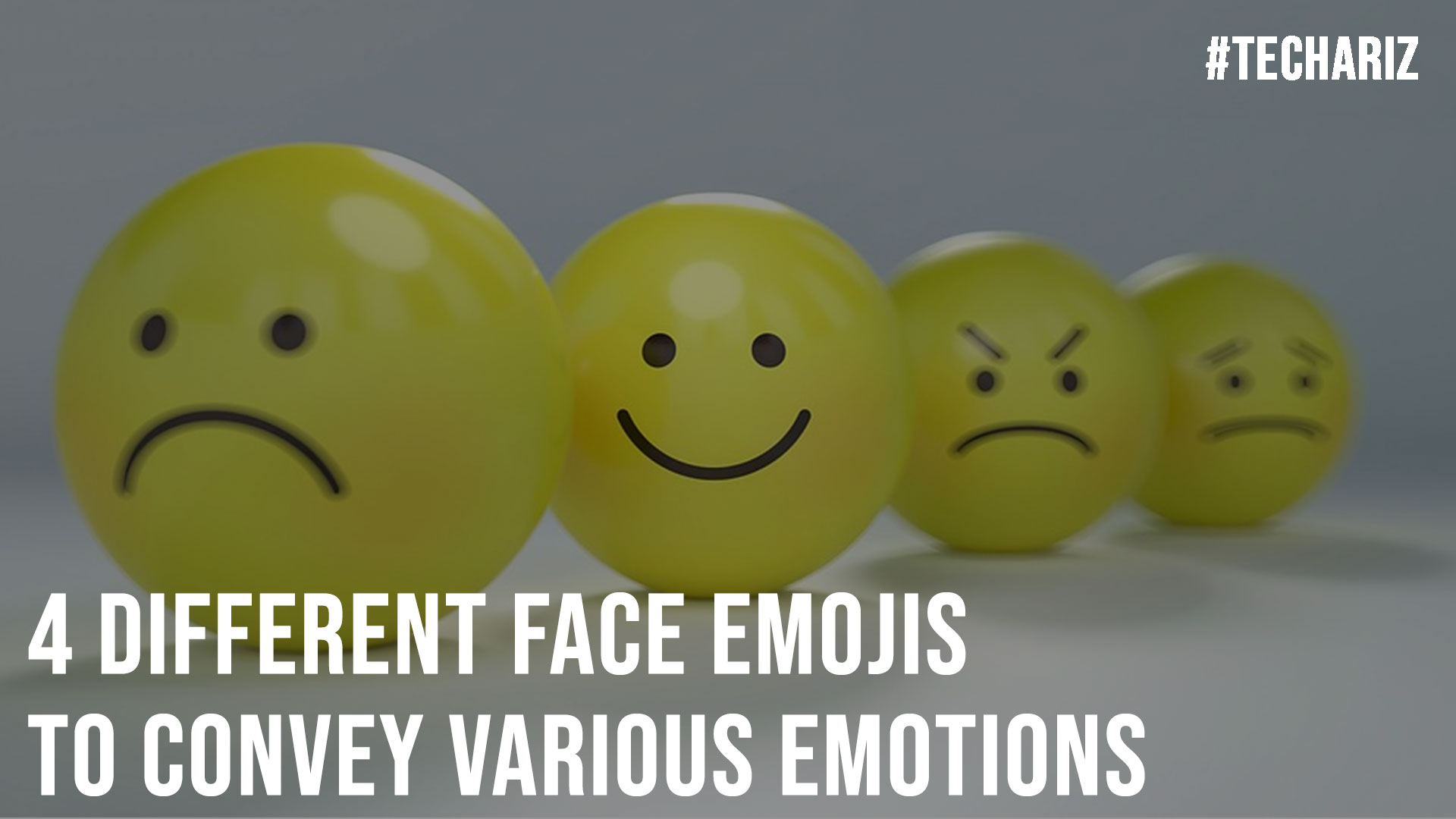 4 Different Face Emojis to Convey Various Emotions