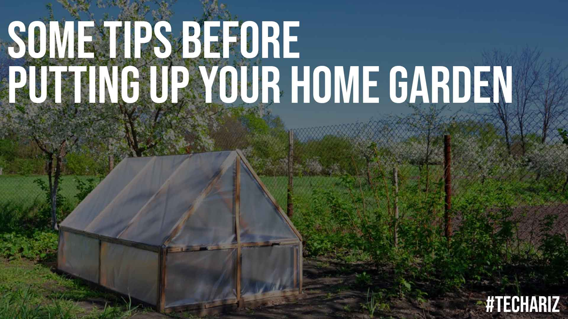 Some Tips Before Putting Up Your Home Garden
