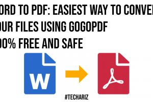 Word to PDF Easiest Way to Convert Your Files Using GogoPDF 100 Free and Safe