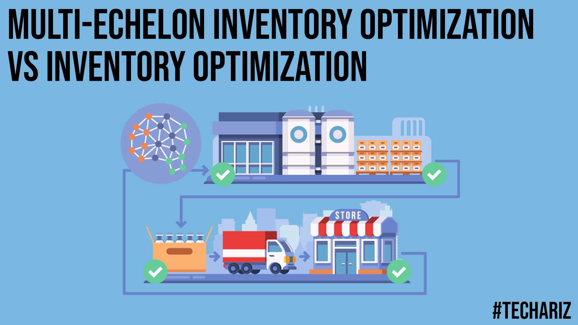 Multi echelon Inventory Optimization vs Inventory Optimization
